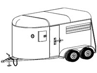 "11'2""x6' Two Horse Trailer Plans (12HR)"