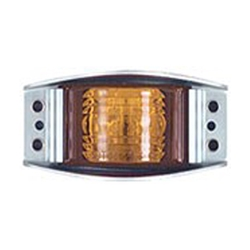 Amber Armored Die Cast LED Marker/Clearance Light
