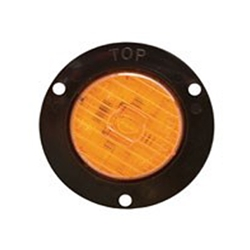 "Amber 2"" Round Flange Mount LED Marker/Clearance Light"