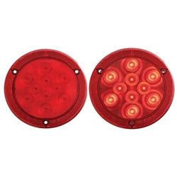 "4"" Round Sealed LED Lights with Reflex Mounting Flange"