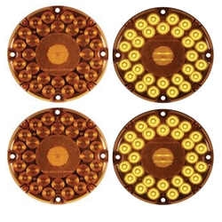 "7"" Round LED Parking/Turn Signal Transit Light (Amber) Pair"