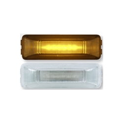 Clear Lens Amber Thin Line Sealed LED Marker/Clearance Light