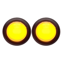"Amber GloLight™ Uni-Lite™ 3/4""LED Non-Directional Marker/Clearance Light Pair"
