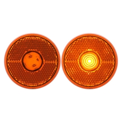 "Amber LED 2.5"" Round Marker/Clearance Light with Reflex"