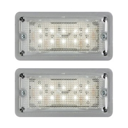 LED Low Profile Dome Light Pair Recess Mount