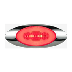 "GloLight Millennium Series 4"" Sealed LED Marker/Clearance Light Red"