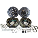 "6-5.5"" Bolt Circle 3,500 lbs. Trailer Axle Self-Adjusting Electric Brake Kit"