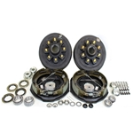 "8-6.5"" Bolt Circle 9/16"" Stud 4.75"" Center Bore 7k Axle Self Adj Electric Brake Kit for 17.5"" Wheels"