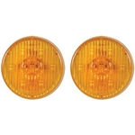 "Amber 2.5"" Round PC-Rated LED Marker/Clearance Light Pair"