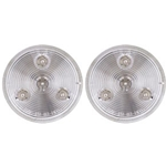 "Clear Lens Amber 2.5"" Round Sealed LED Marker/Clearance Light  Pair"