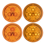 "Amber Miro-Flex™ 2.5"" Round Sealed LED Marker/Clearance Light Pair"