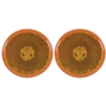 "2.5"" Round Sealed Amber LED Marker/Clearance Lights with Reflex Pair"