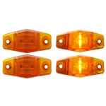 Mini Sealed Amber LED Horizontal-Vertical Marker/Clearance Light Pair
