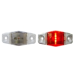 Clear Lens Mini Sealed Red LED Horizontal-Vertical Marker/Clearance Light