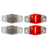 Clear Lens Mini Sealed Red LED Horizontal-Vertical Marker/Clearance Light Pair