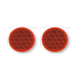 "Red 3"" Self Adhesive Round Reflector Pair"