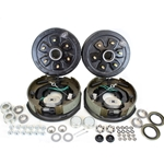 "6-5.5"" Bolt Circle 3,500 lbs. Trailer Axle Self-Adjusting Electric Brake Kit With Timken Bearings"