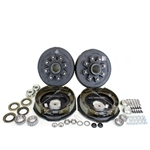 "8-6.5"" Bolt Circle 7,000 lbs. Trailer Axle Self-Adjusting Electric Brake Kit With Timken Bearings"